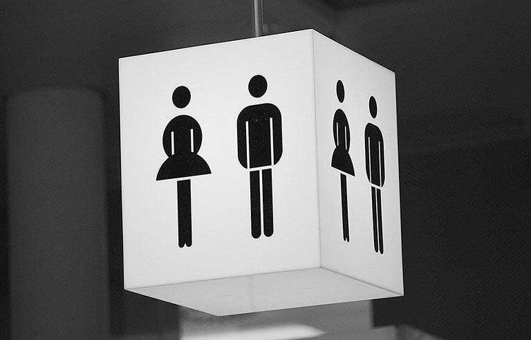 Interior lighted bathroom signs in Charlotte, NC