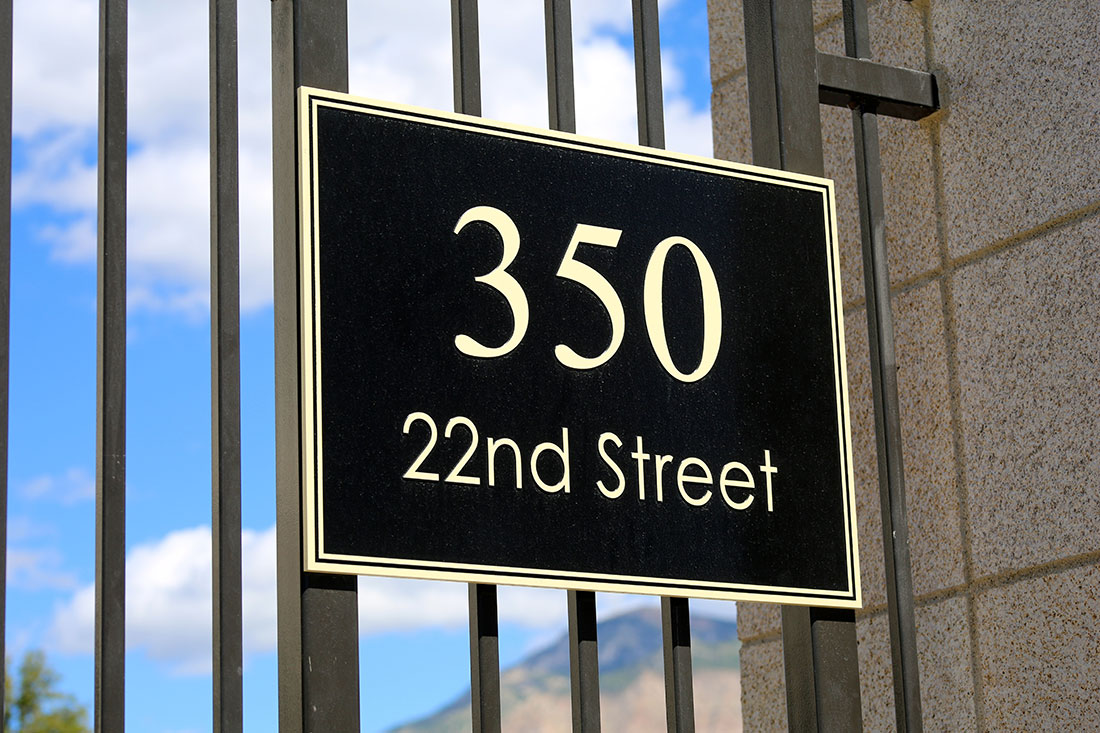 Unique address signs in Charlotte, NC