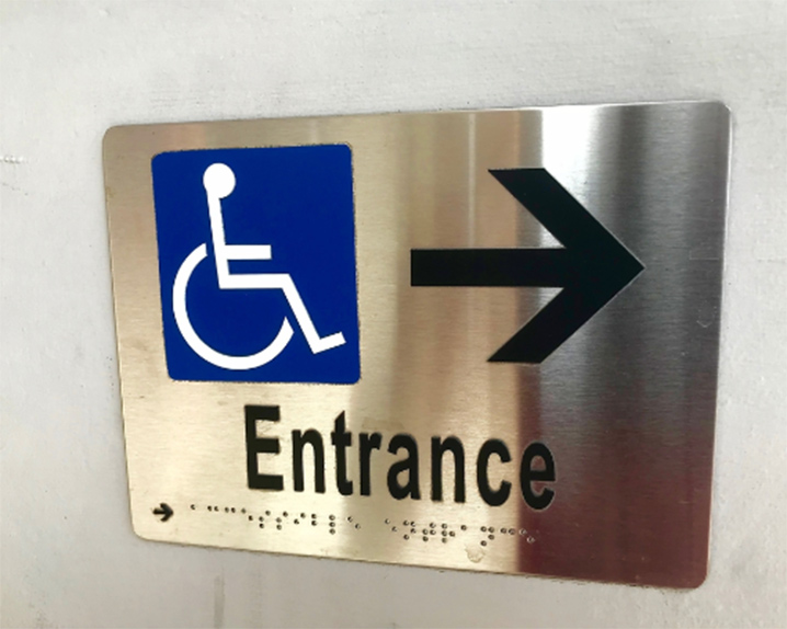 Easy to understand ADA directional signs in Charlotte, NC