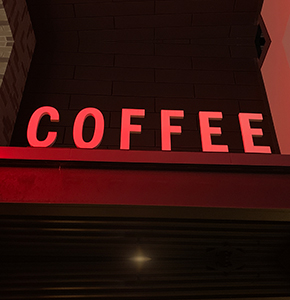 Illuminated channel letters for Coffee Shop in Charlotte, NC