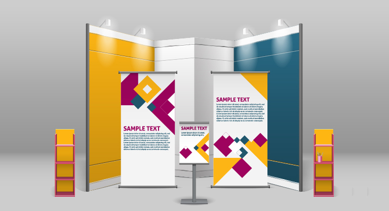 Trade show pull up banners in Charlotte, NC