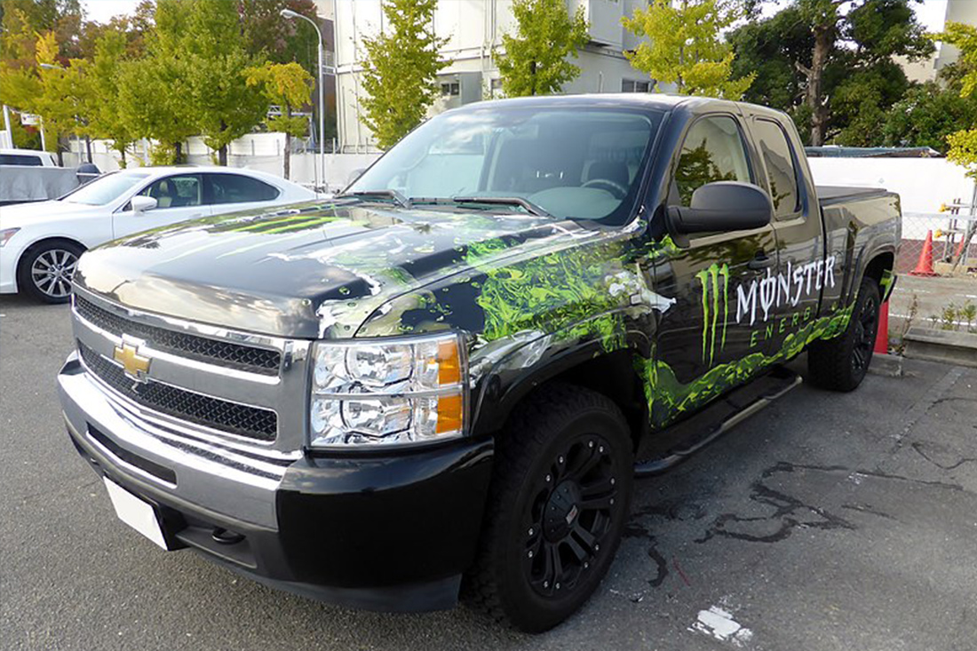 Monster vehicle wraps design in Charlotte, NC