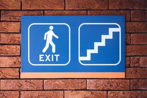 Exit directional signage
