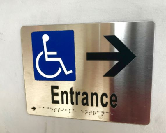 Entrance ADA Signage in Charlotte, NC