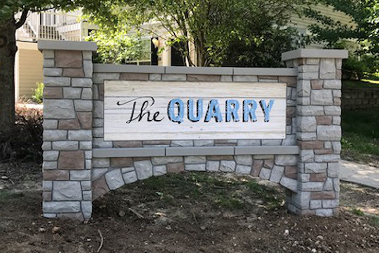 The Quarry Monument Signage in Charlotte, NC