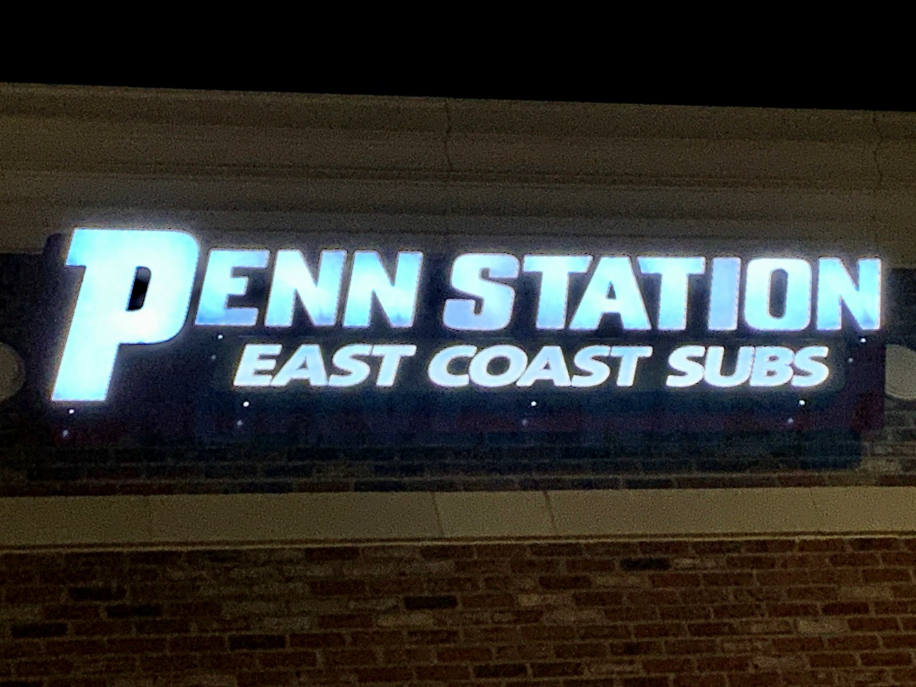 Penn Station outdoor lighted signs in Charlotte, NC