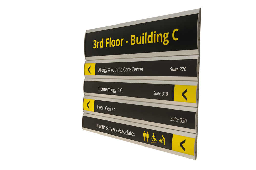Custom building directory signage in Charlotte, NC