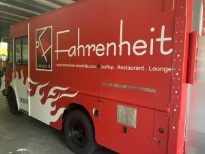 Fahrenheit vinyl vehicle wraps by QC Signs Charlotte