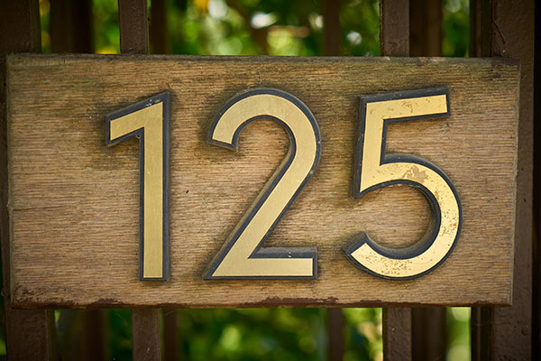 125 Custom Address Signs for Home in Charlotte, NC