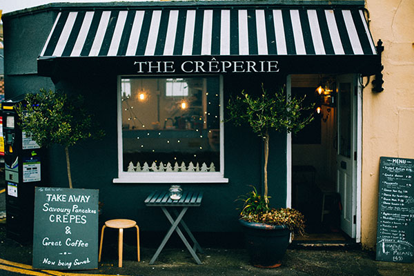 The Creperie Custom Awning Signage in Charlotte, NC