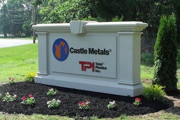 Castle Metals Commercial Monument Signs in Charlotte, NC