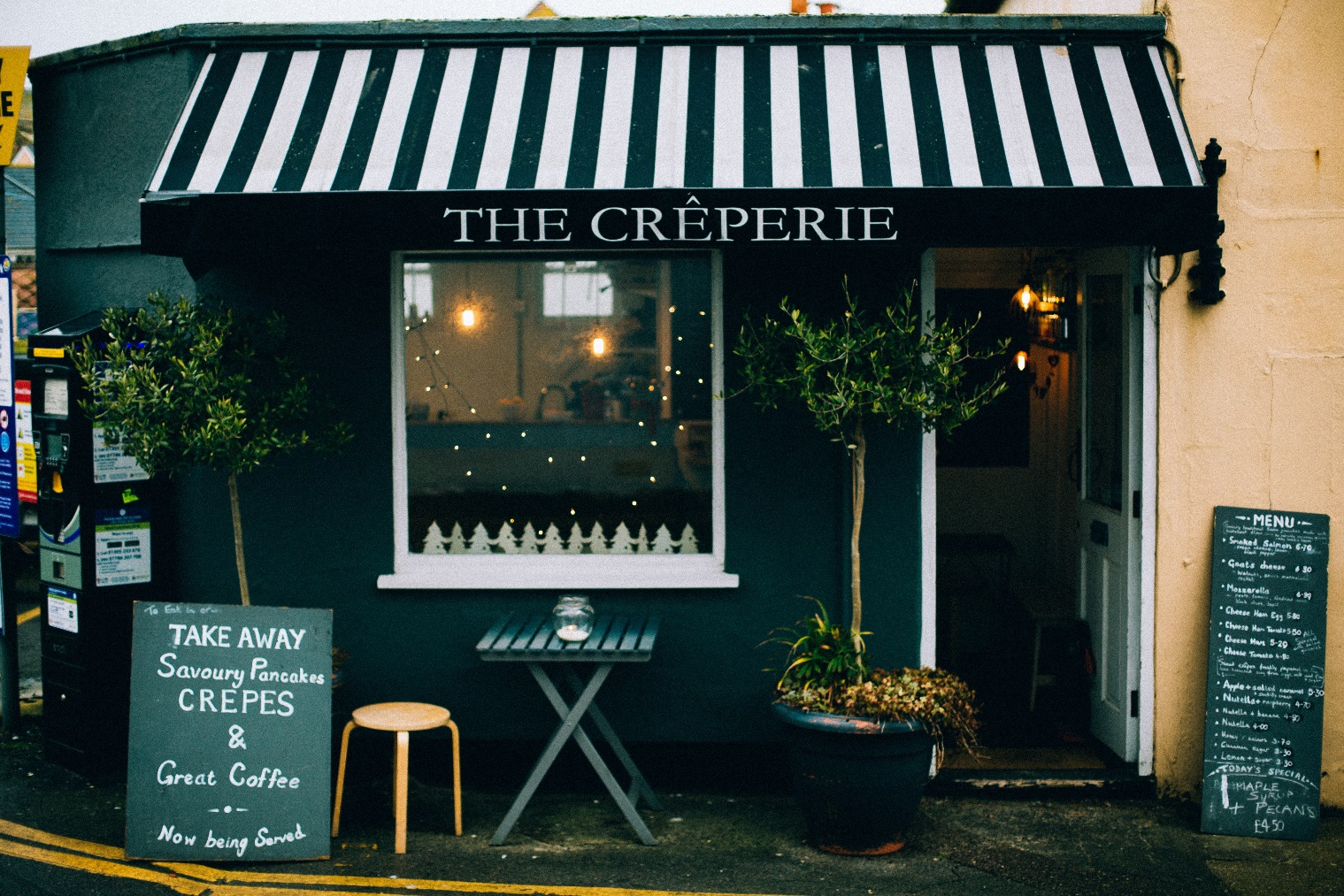 The Creperie Storefront Signs in Charlotte, NC