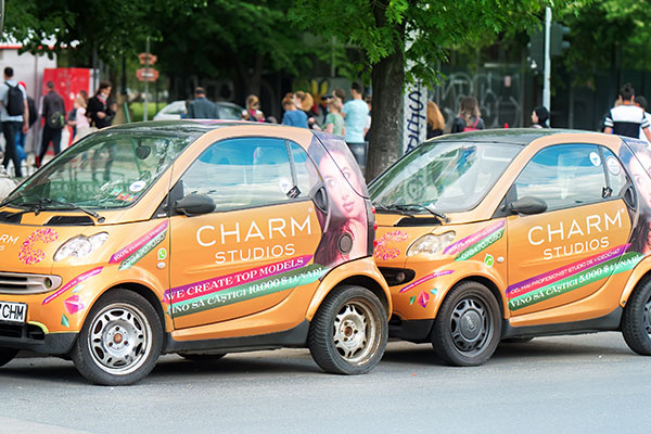 Charm Studios commercial fleet wraps and graphics in Charlotte, NC