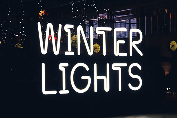 Winter Lights Outdoor LED Signs in Charlotte, NC