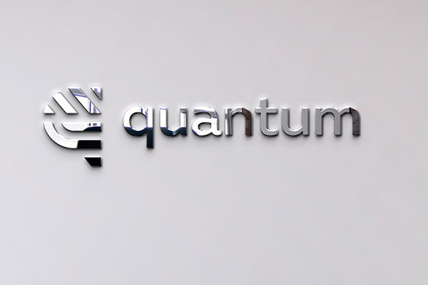 Quantum Metal Lobby Signage in Charlotte, NC