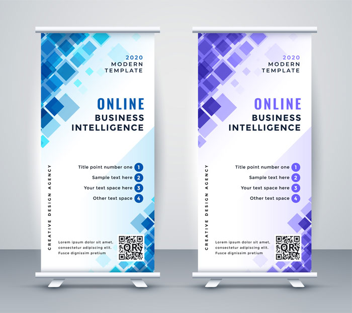 Retractable pull up banners design