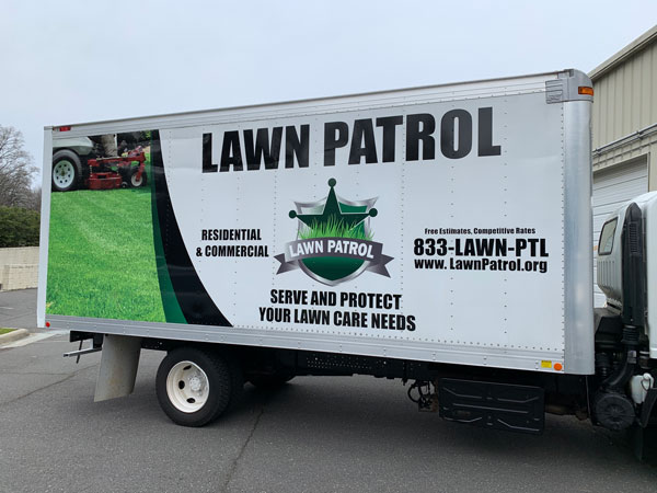 Lawn Patrol Full Vehicle Wraps & Graphics by QC Signs Charlotte