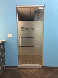 Office Glass Door Signs for Dentistry in Charlotte