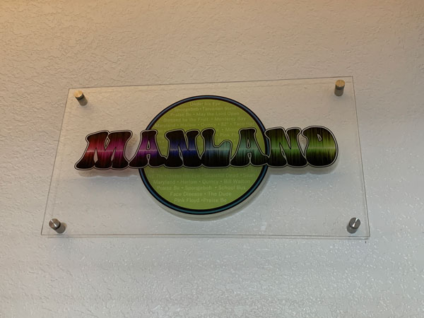 Manland Acrylic Lobby Signage by QC Signs Charlotte