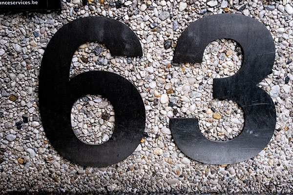 63 Address Numbers for Business