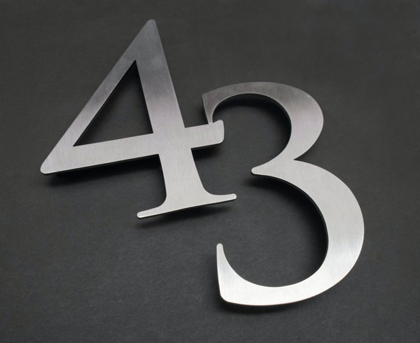 43 silver reflected address signs by QC Signs Charlotte