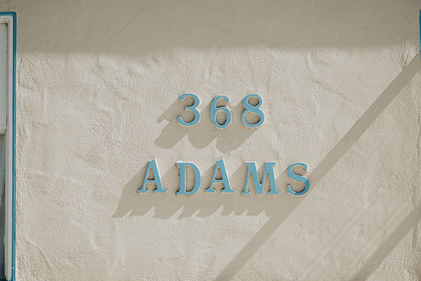 ADAMS house number signs in Charlotte, NC