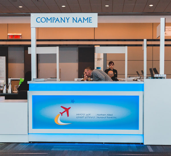 Reception desk signs in Charlotte, NC