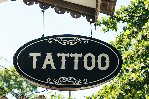 Tattoo Hanging Signs in Charlotte, NC
