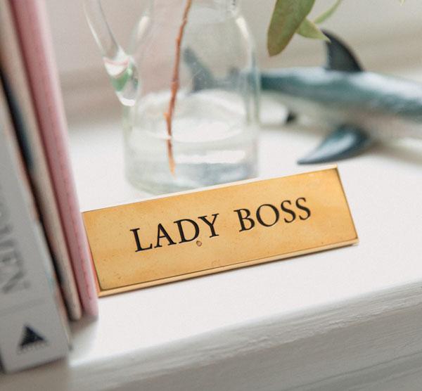 Office reception desk signage