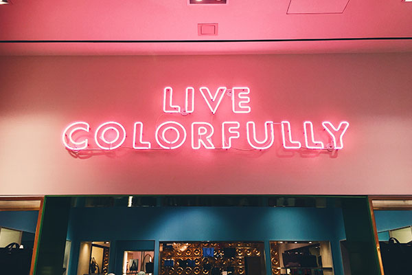 Live Colorfully red LED signs in SouthPark Charlotte, NC