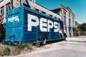 Pepsi truck wraps advertising in Charlotte, NC