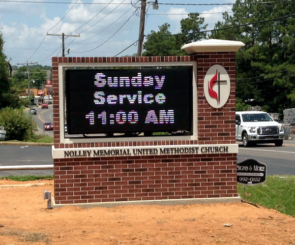 Church Monument Signs with Digital LED Lights in Charlotte, NC
