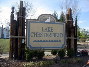 Unique monument signage for Lake Chesterfield by QC Signs Charlotte