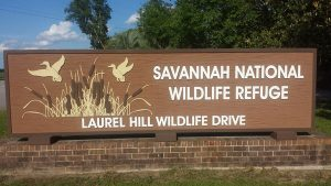 Enrance monument signage for Savannah National Wildlife Refuge by QC Signs Charlotte