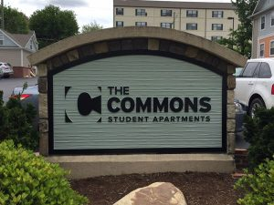Custom monument signs for The Commons Student Apartments in Charlotte, NC