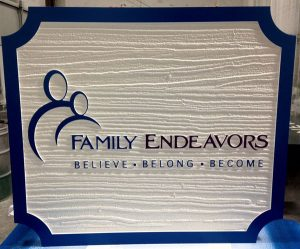 Modern monument signs for Family Endevors in Charlotte, NC