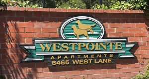 Brick monument signs for Westpointe in Charlotte, NC