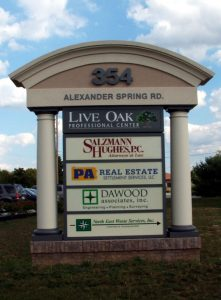 Personalized monument pylon signs by QC Signs Charlotte