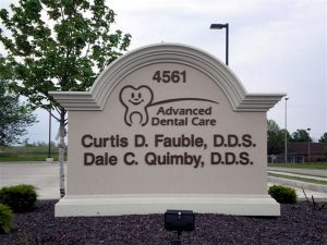 Custom monument signs for Advanced Dental Clinic in Charlotte, NC