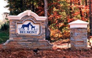 Belmont Stone Monument Signs by QC Signs Charlotte, NC
