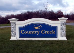 Country Creek Monument Signage by QC Signs Charlotte