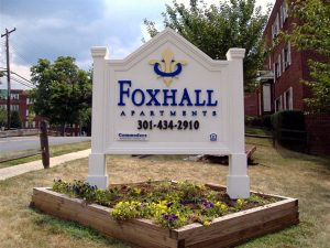 Entrance Monument Signage for FOXHALL in Charlotte, NC