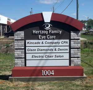 Hertzog Family Eye Care Monument Signs in Charlotte, NC