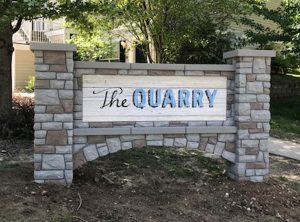 Stone Commercial Monument Signs for The Quarry in Charlotte, NC