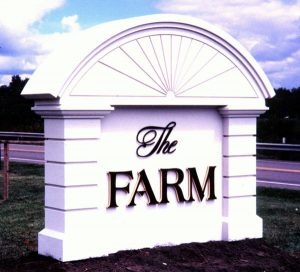 The Farm Lighted Monument Signage in Charlotte, NC