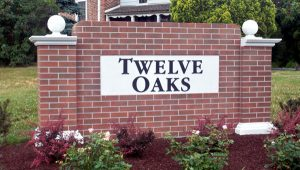 Twelve Oaks Customized Monument Signage