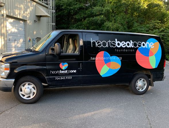 Vehicle wraps for Heartbeatsone in Charlotte, NC