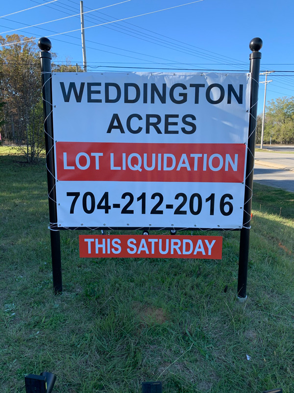 Weddington Acres Lawn Signs Custom Made by QC Signs Charlotte