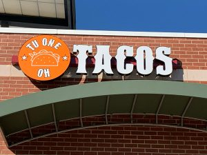 TuOneOh TACOS Final Channel Letters in Charlotte, NC