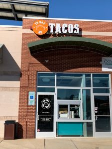 TACOS storefront signs and window graphics in Charlotte, NC